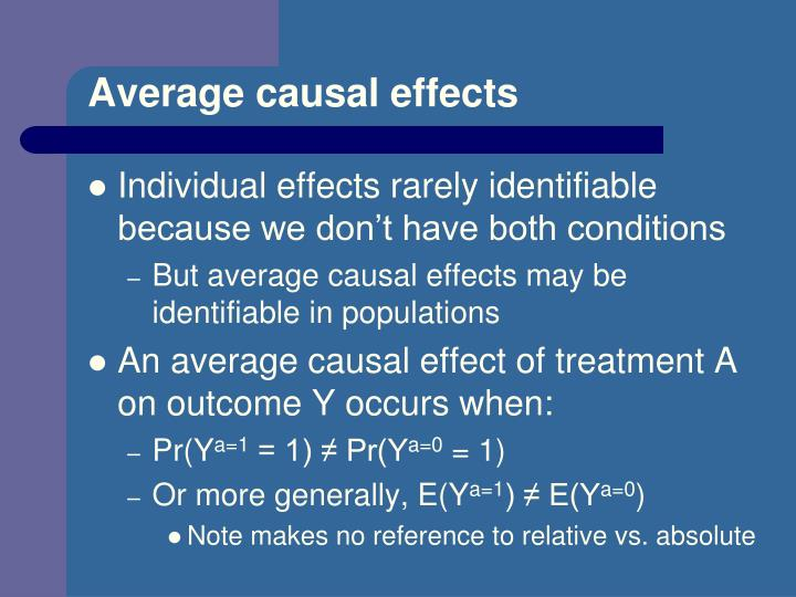 Average causal effects