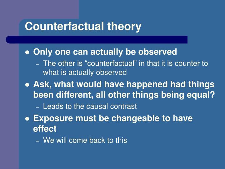 Counterfactual theory
