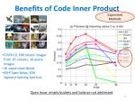 benefits of code inner product