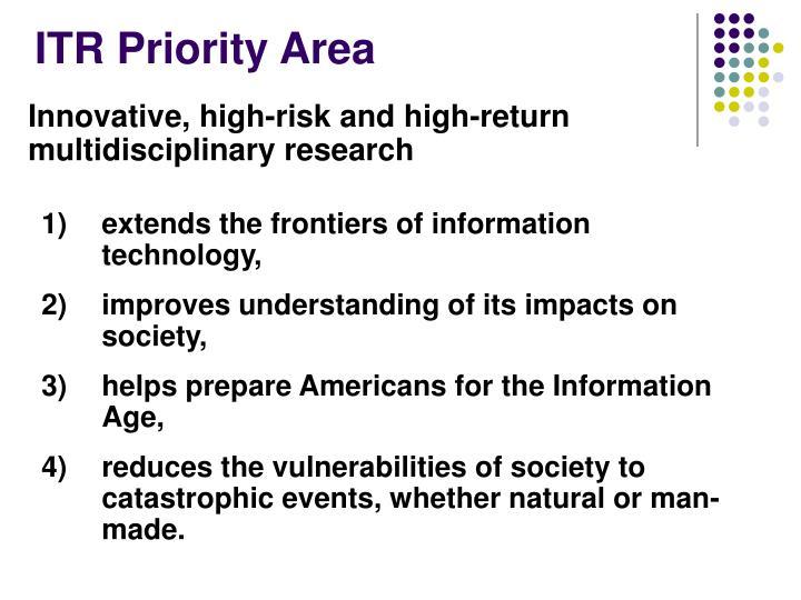Itr priority area
