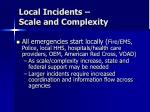local incidents scale and complexity