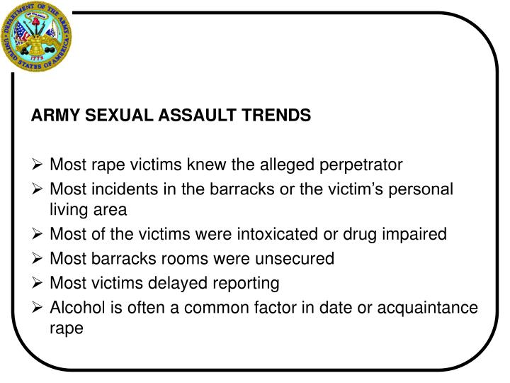 ARMY SEXUAL ASSAULT TRENDS