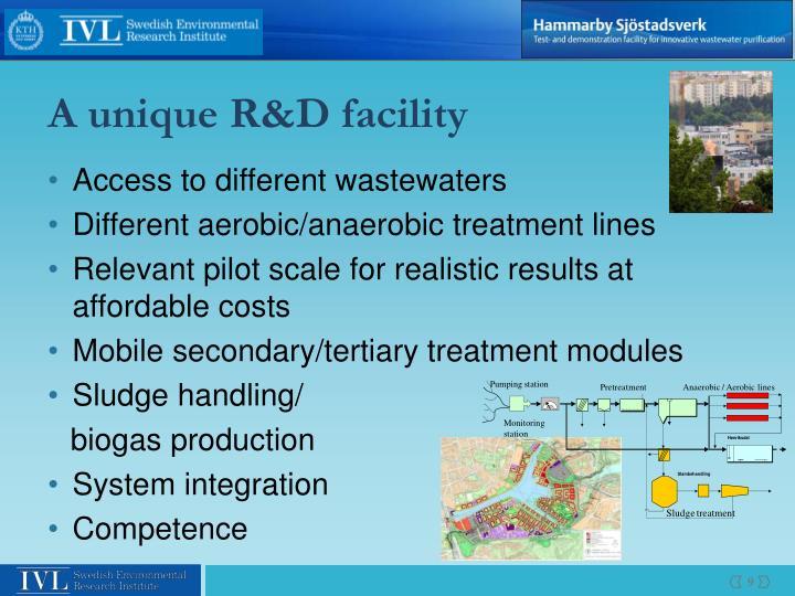A unique R&D facility