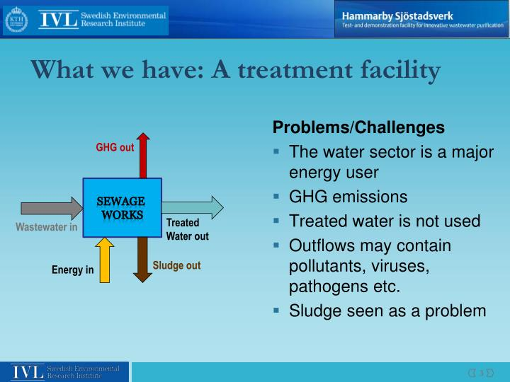 What we have a treatment facility