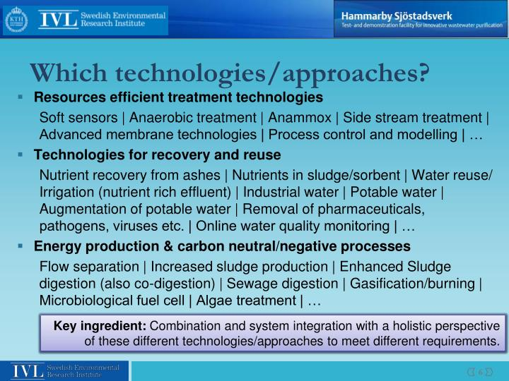 Which technologies/approaches?
