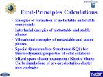 first principles calculations