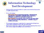 information technology tool development