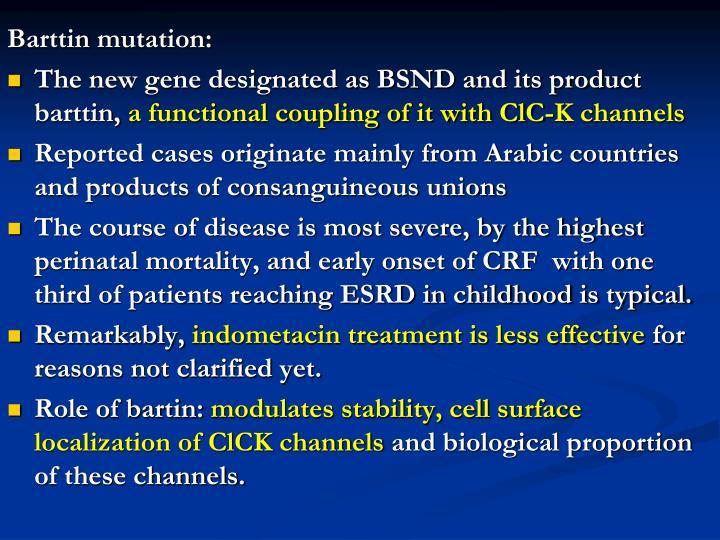 Barttin mutation: