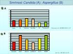 smrtnost candida a aspergillus b