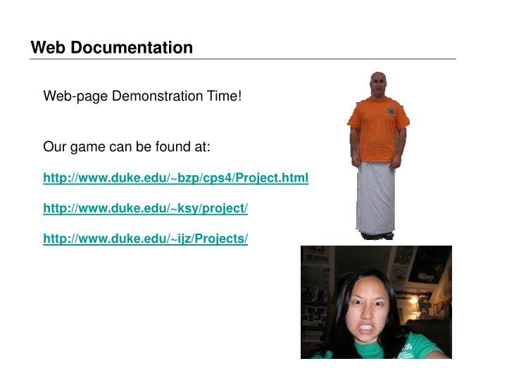 Web Documentation