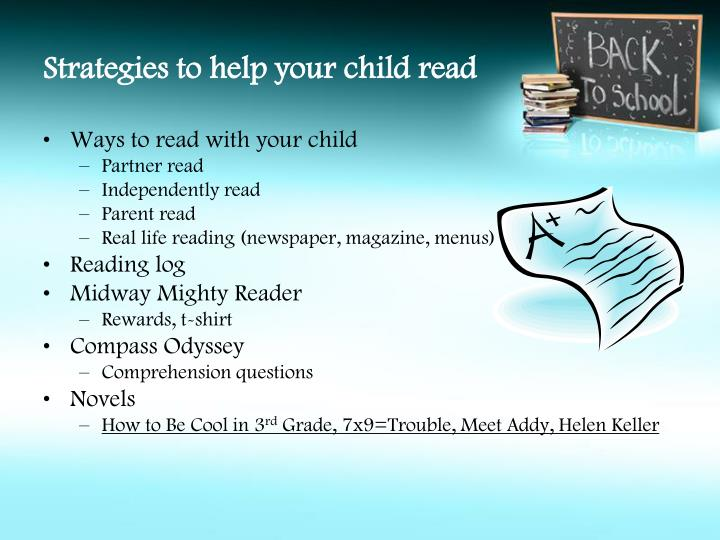 Strategies to help your child read