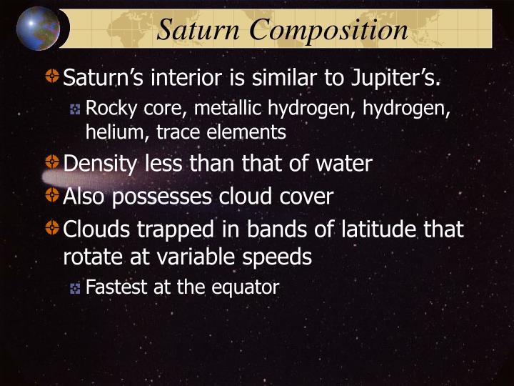 Saturn Composition
