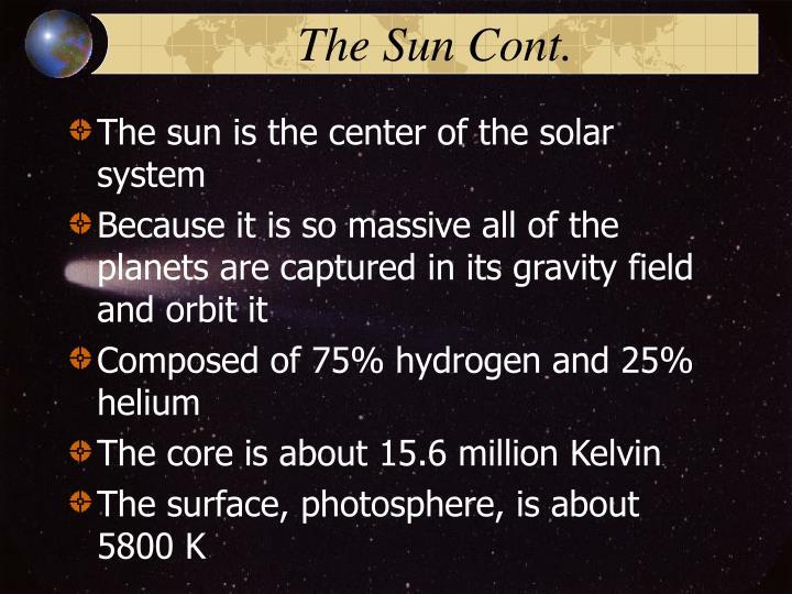 The Sun Cont.
