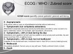 ecog who zubrod score