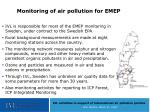 monitoring of air pollution for emep