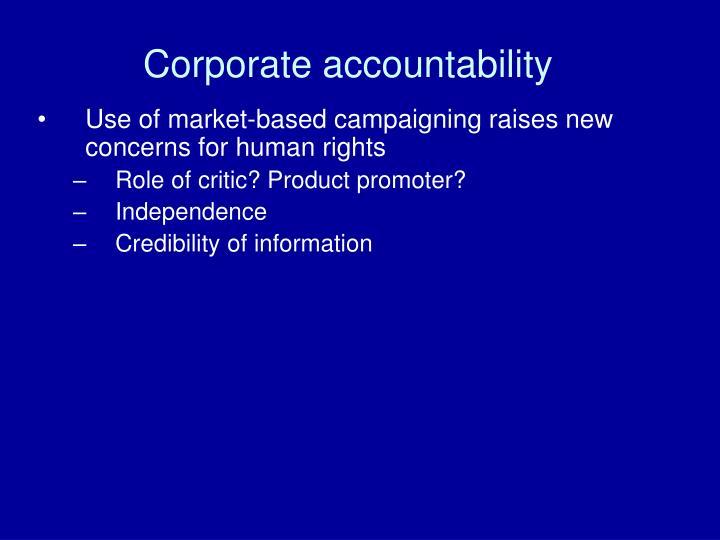 Corporate accountability