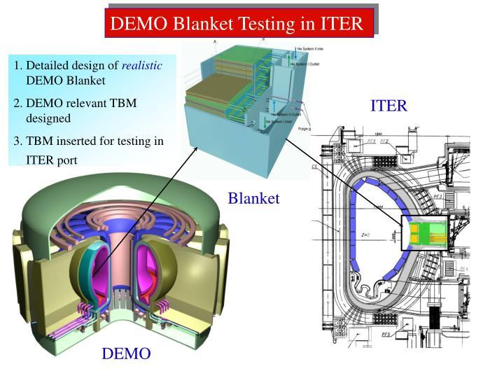 DEMO Blanket Testing in ITER