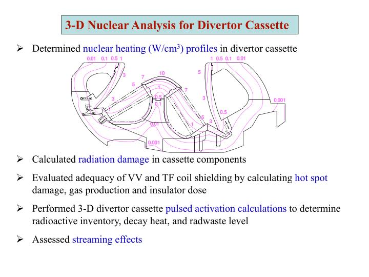 3-D Nuclear Analysis for Divertor Cassette