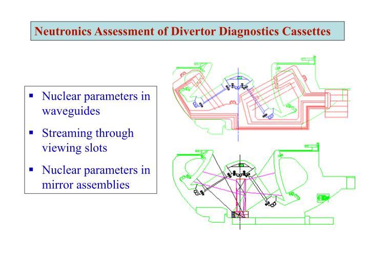Neutronics Assessment of Divertor Diagnostics Cassettes