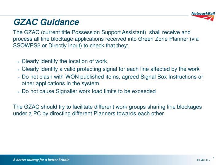 GZAC Guidance