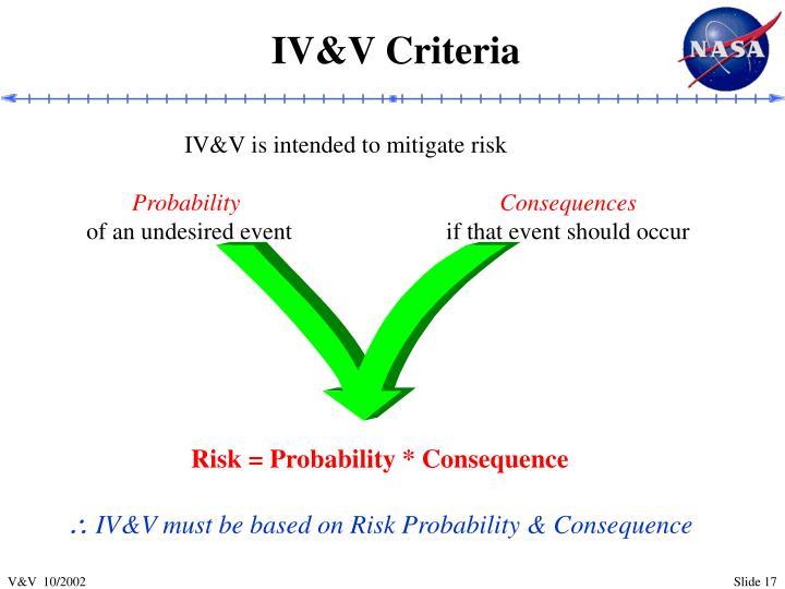 IV&V Criteria