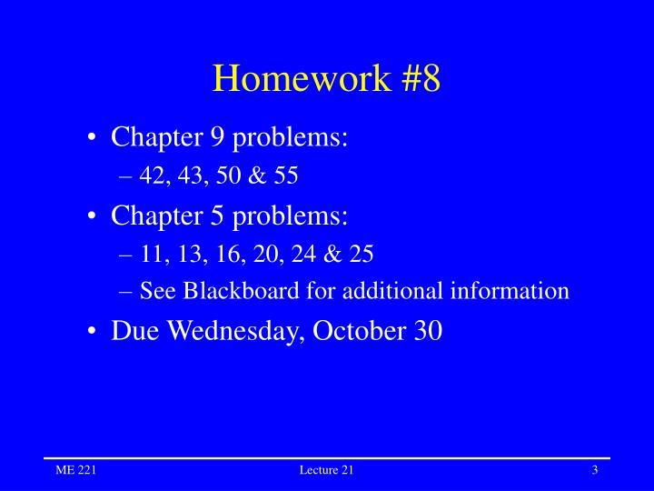 Homework 8