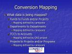 conversion mapping
