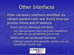 other interfaces