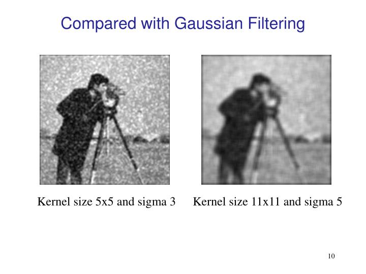 Compared with Gaussian Filtering