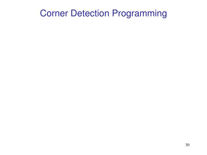 Corner Detection Programming