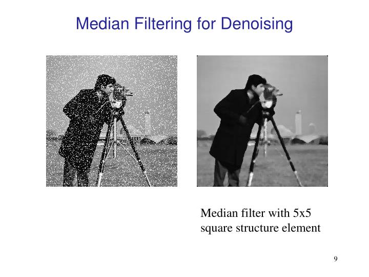 Median Filtering for Denoising