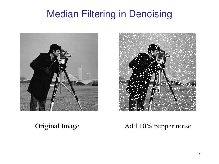 Median Filtering in Denoising