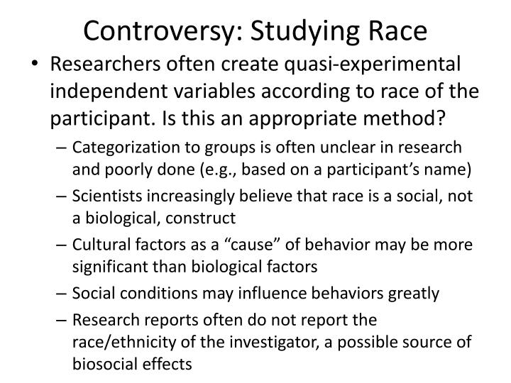 Controversy: Studying Race