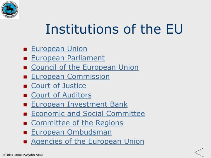 Institutions of the EU