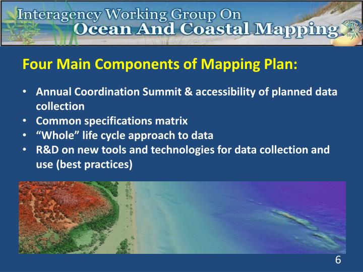 Four Main Components of Mapping Plan: