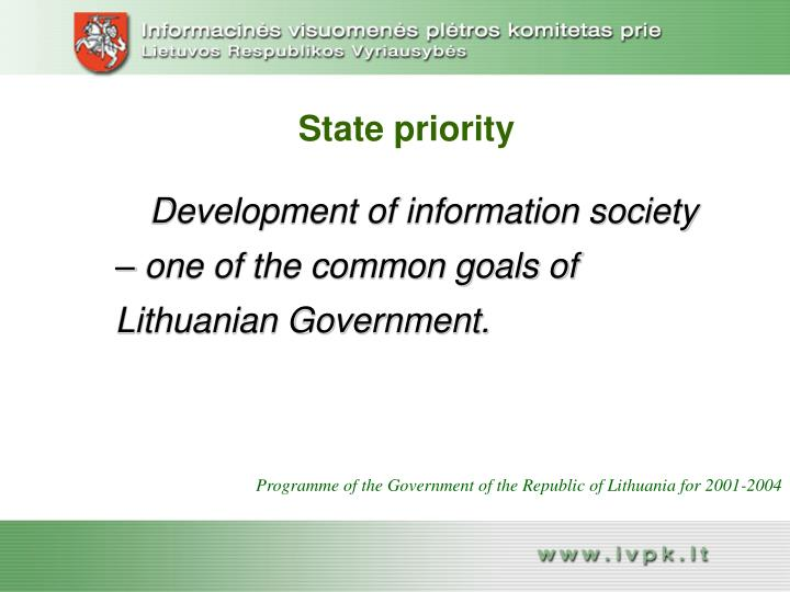 State priority