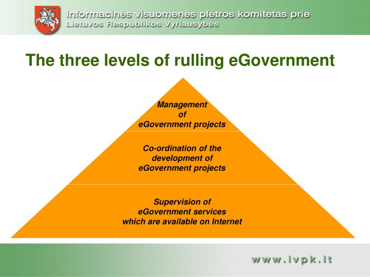 The three levels of rulling eGovernment