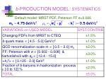 b production model systematics