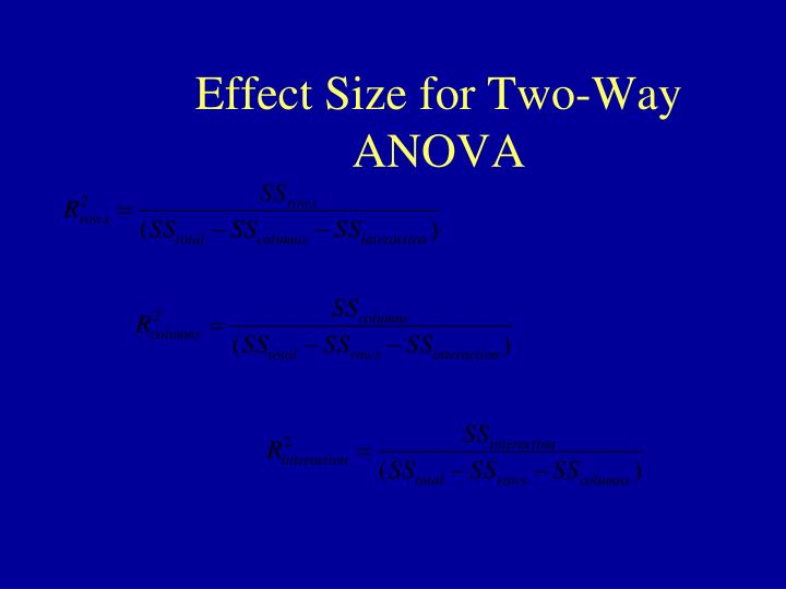 Effect Size for Two-Way ANOVA