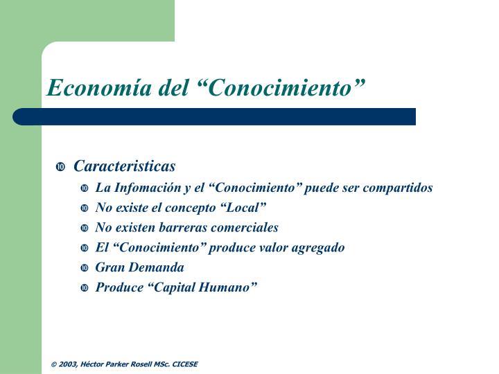 """Economía del """"Conocimiento"""""""