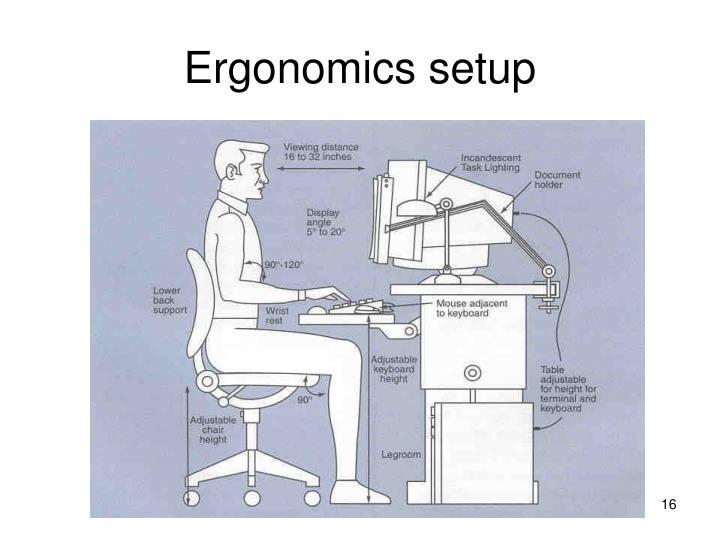 Ergonomics setup