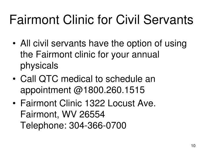 Fairmont Clinic for Civil Servants
