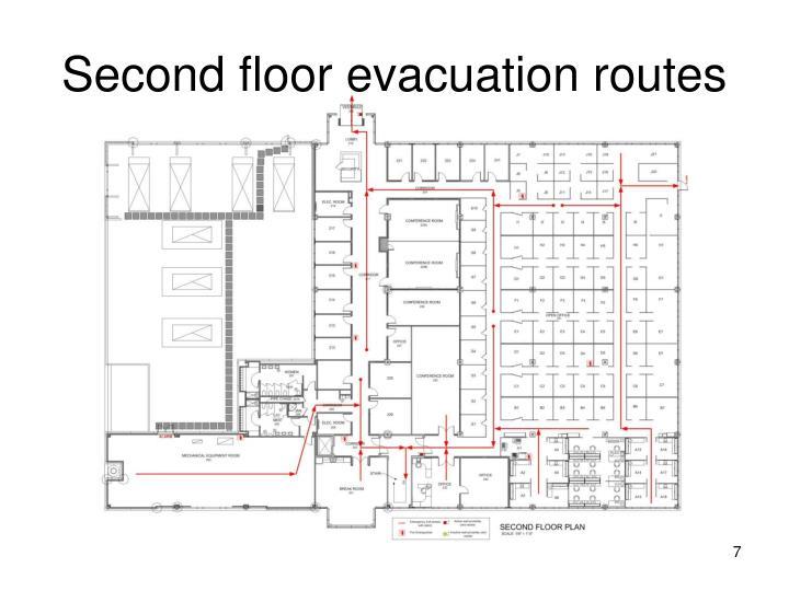 Second floor evacuation routes