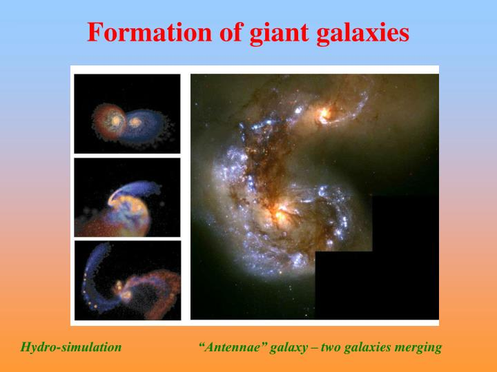 Formation of giant galaxies