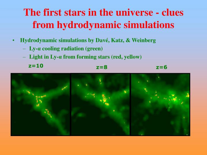 The first stars in the universe - clues from hydrodynamic simulations