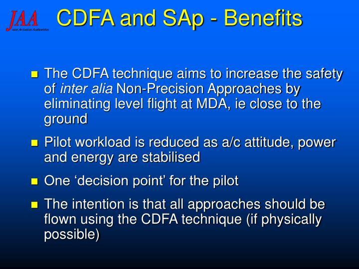 CDFA and SAp - Benefits