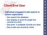 client end user