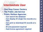 intermediate user