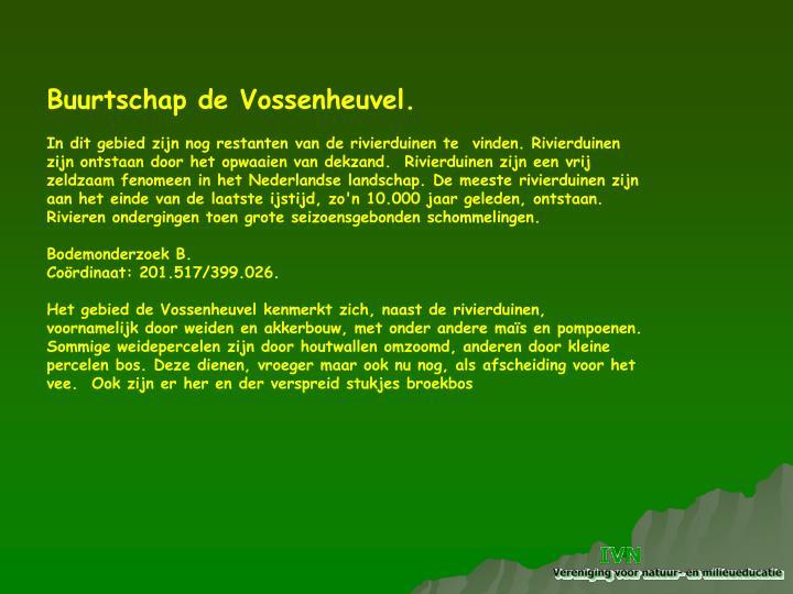 Buurtschap de Vossenheuvel.