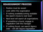 reassignment process